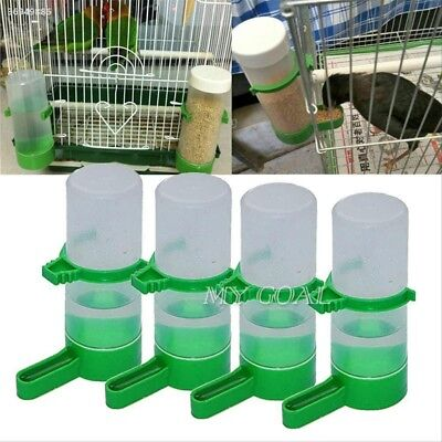 4Pcs Bird Feeder Drinking Water Bottle with Clip for Lovebirds Aviary Cage 7E32