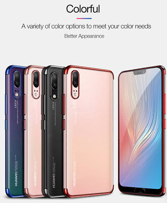 Stylish Hybrid Shockproof Plating Case Silicone Cover for Huawei P10 P20 Lite