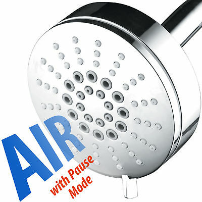 AirJet-300 High Pressure Luxury 6 setting Shower Head Full Chrome Finish