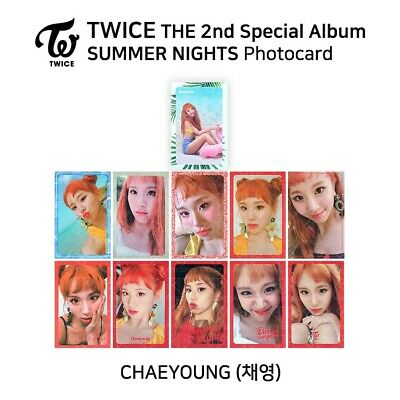 TWICE : 'SUMMER NIGHTS DANCE THE NIGHT AWAY' Official Photocard - Chaeyoung