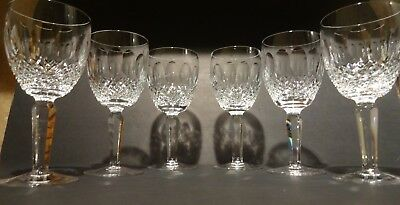 *VINTAGE* Waterford Crystal COLLEEN TALL (1986-) Set of 6 Claret Wine 6 1/2""
