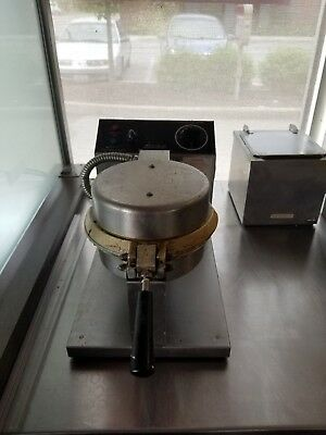 Two Gold Medal Stainless Steel Cast Iron Giant Waffle Cone Baker Model 5020c