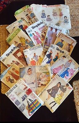 Lot 15 Vintage 50s -60s? sewing Patterns Simplicity Butterick McCall Vogue