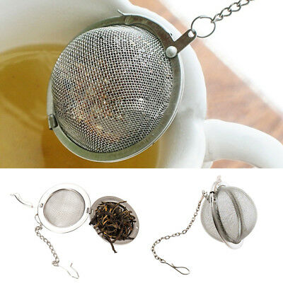 Infusor té Ball Mesh Loose Leaf Herb Colador acero inoxidable Secure Locking