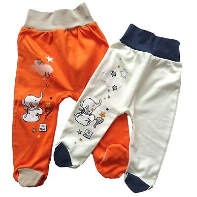 BNWT Baby Toddler Boys/Girls Trousers with feet 100% Cotton 3-6/9-12 Months