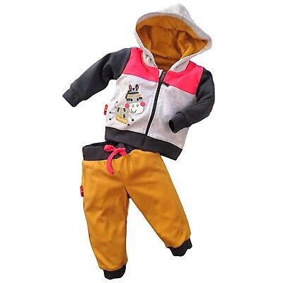 BNWT Baby Girls Tracksuit Set Hooded Jacket & Trousers Joggers 3-6/6-9/9-12 m