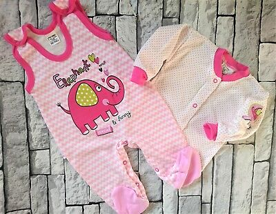 *NEW* Baby Girls Lovely 2 Pieces Set *Outfit  *100% COTTON* 3-6/6-9 Months
