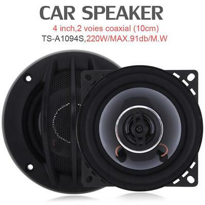 2pcs 4 Inch 220W Car HiFi Coaxial Speaker Vehicle Door Auto Audio Mucis Stereo