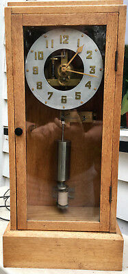 Hand Made Beautifully Engineered Vintage Electric Hipp Clock Wall Or Mantel
