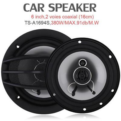 2 pcs 6 Inch 380W Auto Car Hi-Fi Coaxial Speaker Vehicle Door Auto Audio Music