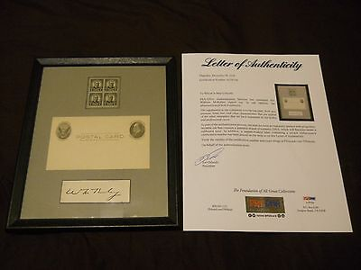 WILLIAM MCKINLEY SIGNED CUT SIGNATURE WITH PSA/DNA LOA 25th PRESIDENT AUTO
