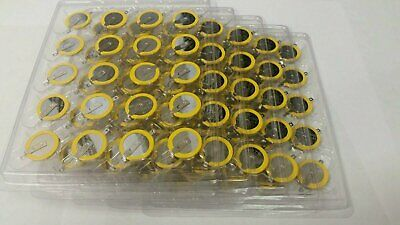 10-200 Lot CR2032 NES SNES Save Batteries with Solder Tabs for Nintendo Super