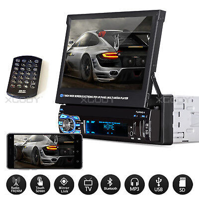 "7"" 1 DIN AUTORADIO BLUETOOTH STEREO RADIO MP5 MP3 LETTORE USB REMOTE Mirror Link"
