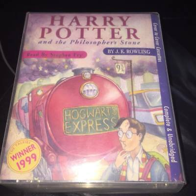 harry potter and the philosophers stone 6 CASSETTE AUDIOBOOK j k rowling