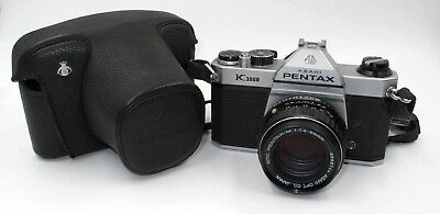 *vintage* Asahi Pentax K1000 Camera W/50Mm F1.4 Lens & Fitted Case. Great Cond.