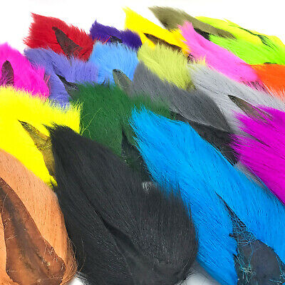 12  LARGE 1st QUALITY NORTHERN BUCKTAIL from HARELINE Angelsport-Fliegen-Bindematerialien Fly Tying lot