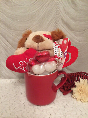 Soft Toy Cup / Mug Gift Set - Chocolates Soaps Flower Coaster Gift Wrapped