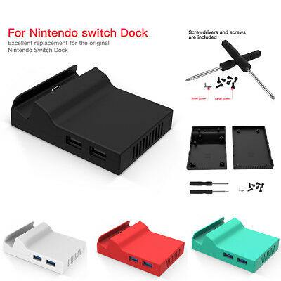 Portable Replacement Dock Base Stand With Screws for Nintendo Switch (Black)