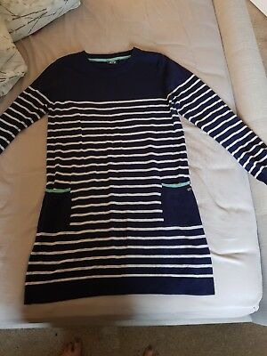 Animal Navy And White Striped Jumper