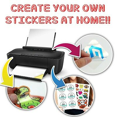 Print Stickers At Home Printer - Sticky Blank A4 Self Adhesive Sheet - Easy Use