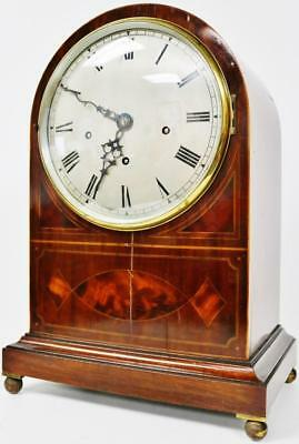 Antique Mahogany Westminster Chime 5 Gong Bracket Clock Musical Bracket Clock