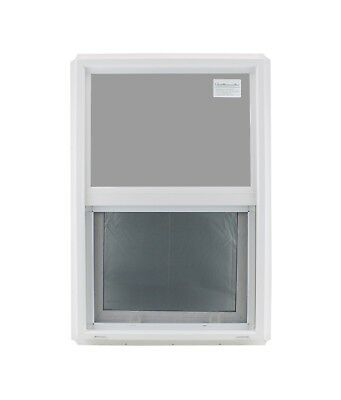 "Double Pane Window 20"" x 30"" Tempered Glass Low-E PVC Frame"