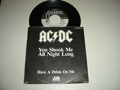 AC/DC - you shook-have a drink-Vinyl-Single- 7' -ACDC-Back in Black