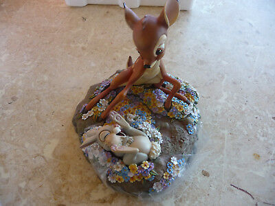 NEW!#24140 DISNEY HARMONY KINGDOM BAMBI w/THUMPER & FLOWER 60TH ANNIV.(1942-2002