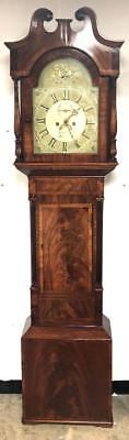 Cheltenham Longcase Clock Flame Mahogany Grandfather Clock Painted Dial Vimpany