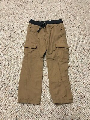 Cat And Jack Toddler Boys Lined Skinny Cargo Khaki Pants Size 2T