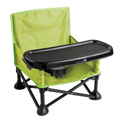 Summer Infant Pop N Sit Folding Booster Seat - Green - New