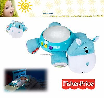 Fisher-Price Hippo Plush Projection Nightlight Musical Baby Nursery Soother 0M+