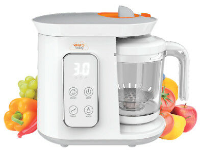 Vital Baby BabyFood Pro, Warms, Steams, Blends, Baby Blender, Food Warmer.