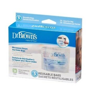 Dr Brown's Options Reusable Microwave Steam Steriliser Bags