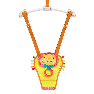 Munchkin Door Bouncer Bounce and Play Lion Teether Ring Squeaky Noise Soft Pad