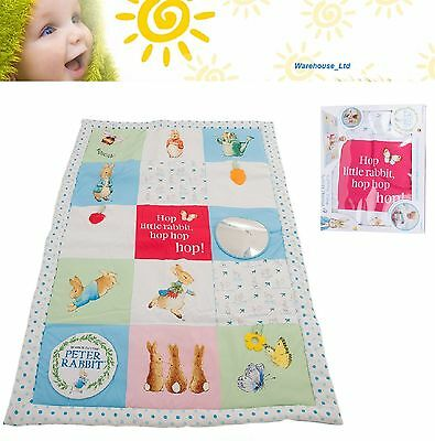 Peter Rabbit Tummy Time Baby Activity Mat, Baby Interactive Play Mat Extra Large