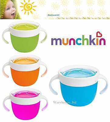 Munchkin Click Lock Deluxe Snack Catcher Blue/Green/Orange/Pink