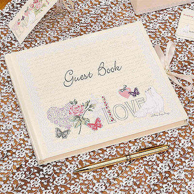 Wedding Guest Book - Ginger Ray Neviti High Quality - Choose Design Fast Del