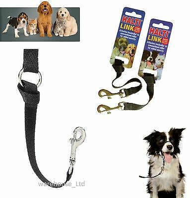 Halti link large small black attach to Halti head collar for extra security
