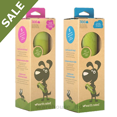 300 x Earth Rated Biodegradable Dog Waste Bags Lavender Scented Poo Poop Bags