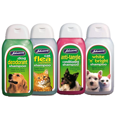 Johnsons Shampoo For Dog Puppy Kitten Cat Wash Flea Deodorant - Full Range