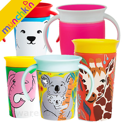 Munchkin Miracle Trainer Cup Decor 360 Sippy Cup Anti Spill Baby Cup New 2019