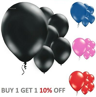 Packs of 10 x Latex Balloons Metallic & Solid Colours 11 Inch Fast Delivery