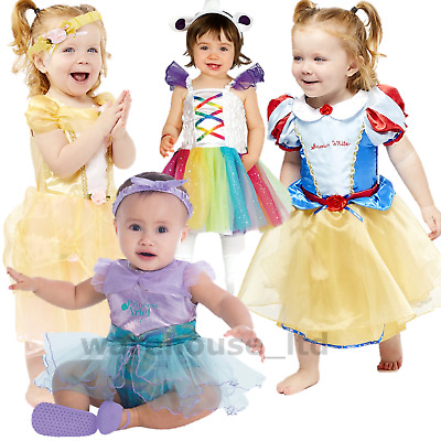 Deluxe Disney Princess Costume Girl Fairytale Fancy Dress Up Outfit