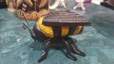 Antique Cast Iron Hornet Bee Figural Insect Hubley?Art Nouveau Metal Paperweight