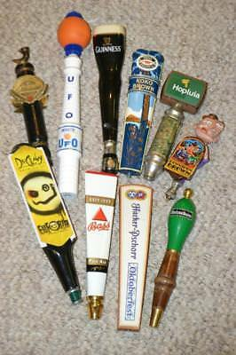 Large Lot Of 10 Unique Draft Beer Tap Handles~Bar Used Beer Taps