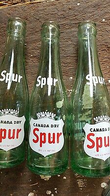 vintage Canada Dry glass 6oz soda bottles Spur Tower City PA Schuylkill county