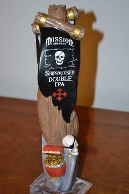 Rare Mission Brewing Shipwrecked Figural Pirate Chest Draft Beer Tap Handle