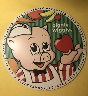 """Piggly Wiggly Sign from the 1960's  30"""" across"""