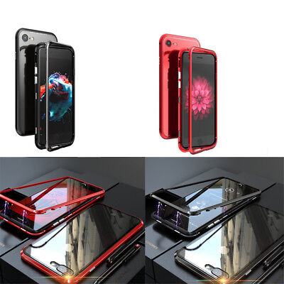 Glass Ultra Slim Magnetic Anti-Shock Metal Case for IPhone 8/8 PLUS IPhone7  XA